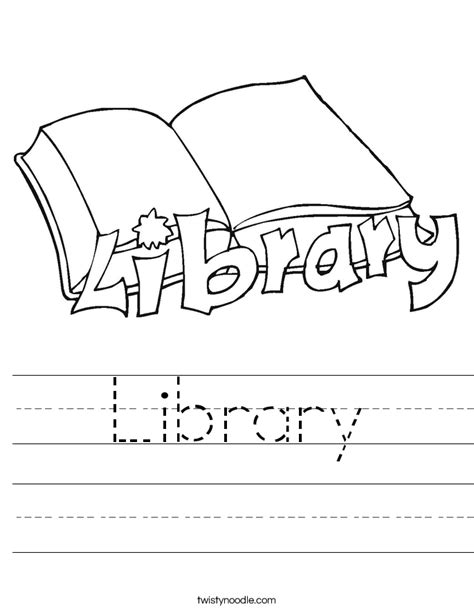 library worksheet twisty noodle