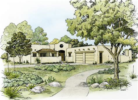 southwestern home plans southwestern home plan with shape 46046hc