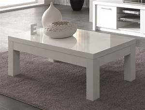 Table Basse Blanche Design : table basse rectangulaire design laqu e blanche adamo ~ Preciouscoupons.com Idées de Décoration