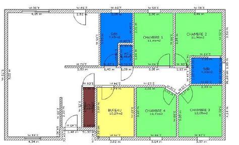 plan maison plain pied 4 chambres plan de maison 4 chambres plain pied plans maisons