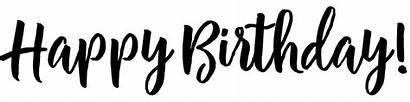 Birthday Happy Word Transparent Script Font Charlotte