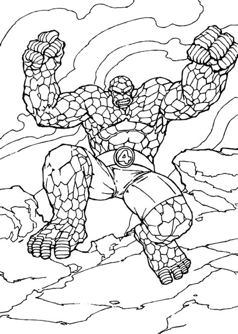 Coloring Things by The Thing Coloring Pages Strong Thing
