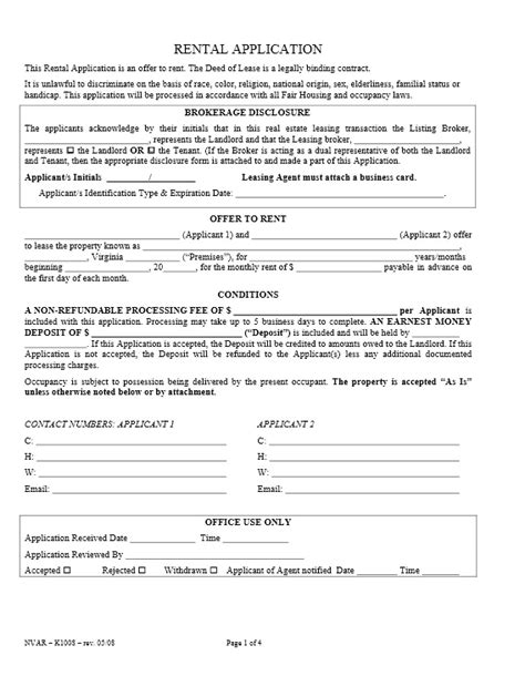 Download Free Virginia Rental Application Form  Printable. Cover Letter Marketing Job Sample. Cover Letter Download. Legal Administrative Assistant Cover Letter Template. Letter Form Photography. Sample Excuse Letter For Half Day In School. Cover Letter Samples For 2018. Letter Of Application Head Of Department. Sale Letter Form 29 Kerala