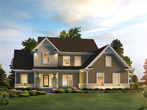 lauren traditional home plan   house plans