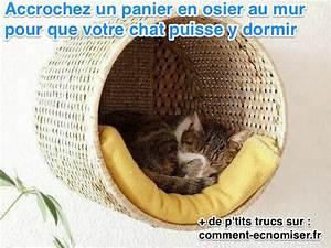 Panier Osier Chat : gain de place cr ez un panier perch pour chat fait maison ~ Teatrodelosmanantiales.com Idées de Décoration