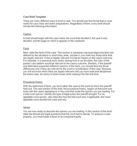 school brief template 40 brief exles templates template lab
