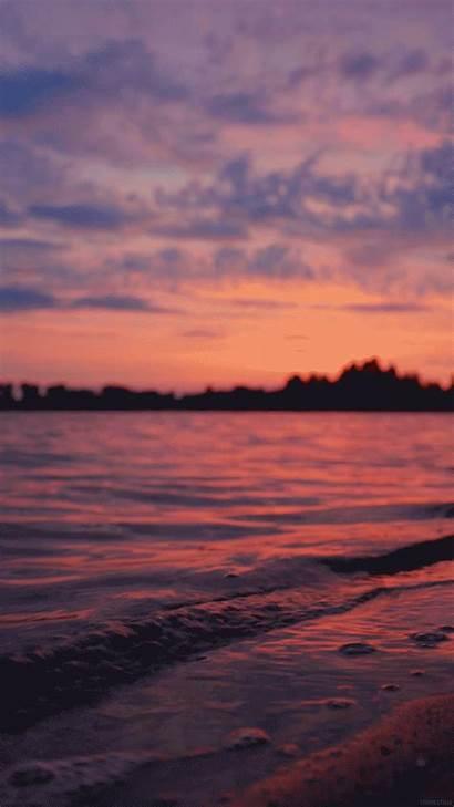Sunset Waves Living Stills Giphy Gifs Nature