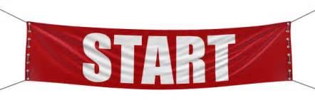 Red Start Sign