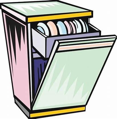 Dishwasher Cartoon Clipart Money Pocket Empty Dirty
