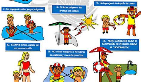 lamina de prevencion de accidentes un verano sobresaltos en las piscinas ser madrid