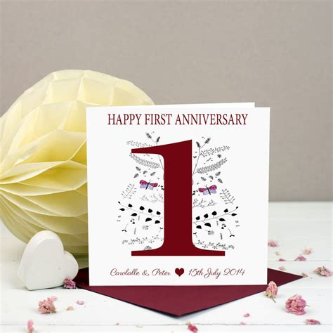 st anniversary card  lisa marie designs