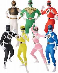 Adults Power Rangers Mens Ladies Fancy Dress Superhero ...