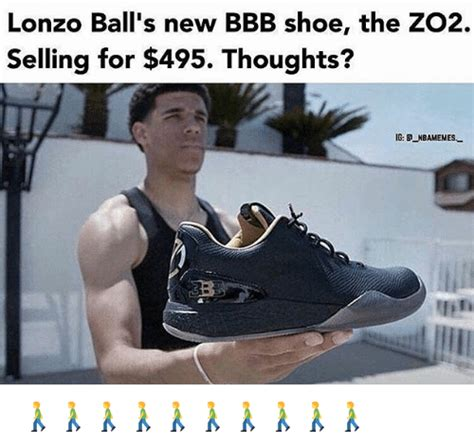 Shoe Memes - lonzo ball s new bbb shoe the zo2 selling for 495 thoughts ig nbamemes bbb meme
