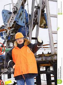 Worker In An Oil Field. Stock Photography - Image: 32678012