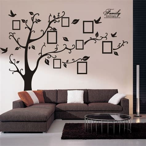 home decor wall decals family photo frame tree vinyl removable wall stickers