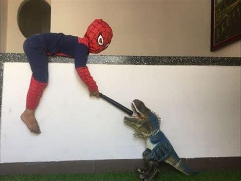 dinosaurs  spider man kid war dinosaur toys  kids