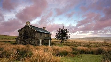 cottage   beautiful meadow widescreen high
