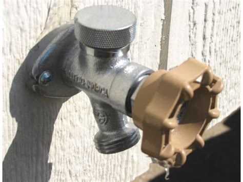 leaking outdoor faucet in winter freeze proof faucets help backyard sauna enthusiasts chill