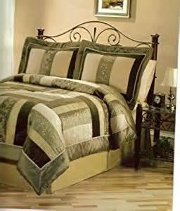 amazon com satin comforter set king olive green