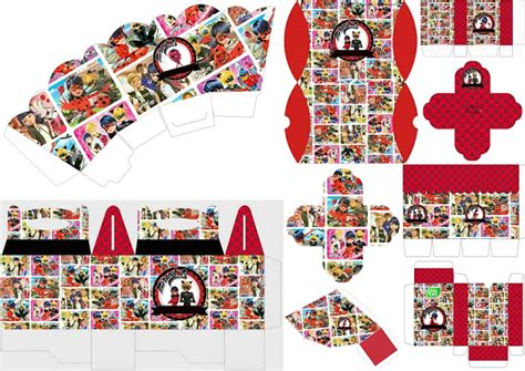 miraculous ladybugfree printable boxes   fiesta