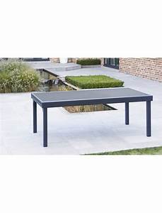Table De Jardin Aluminium 12 Personnes : table modulo noire 8 12 personnes wilsa tables de jardin ~ Edinachiropracticcenter.com Idées de Décoration