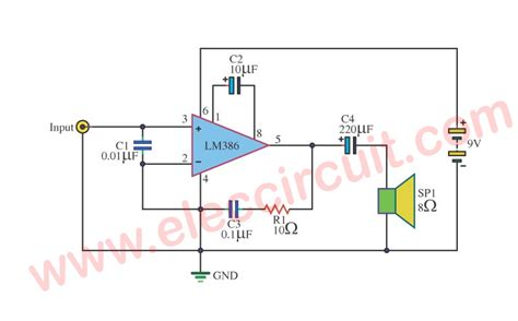 Audio Amplifier Circuit With Pcb