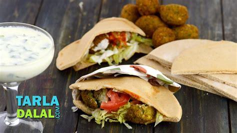 falafel lebanese falafel stuffed  pita bread  tarla