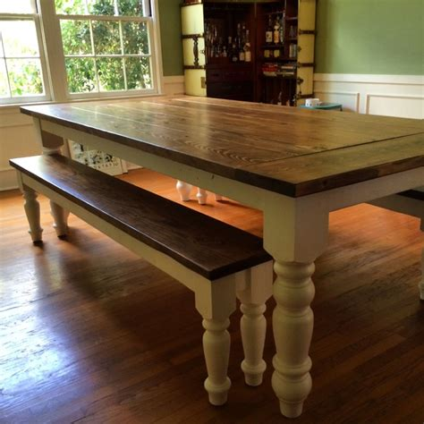 country farmhouse dining table  oversized spun legs