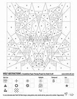 Wolf Quilt Patterns Piecing Geometric Abstract Pieced Violetcraft Abstractions sketch template