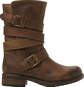 womens leather biker boots sale steve madden kindell leather biker boots for in brown brown lyst