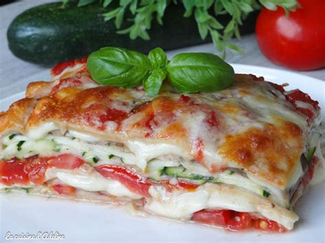 recette de cuisine sans viande lasagnes végétariennes aux courgettes tomates et mozzarella la cuisine d 39 adeline
