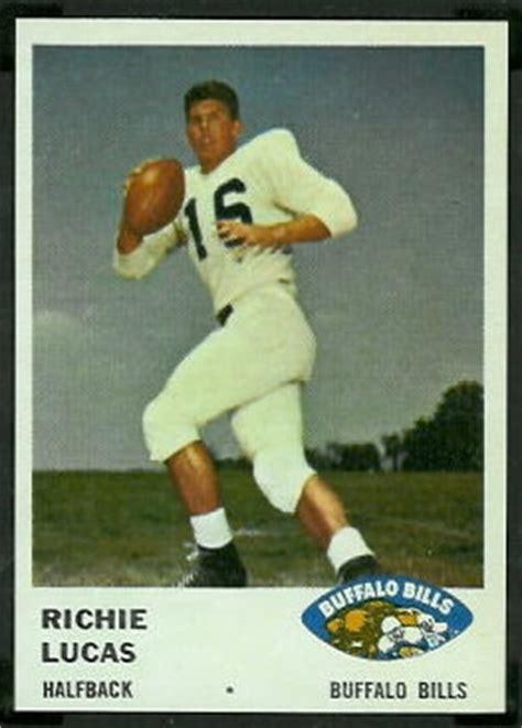 richie lucas  fleer  vintage football card gallery