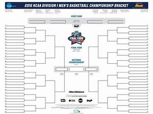 Ncaa Bracket To Fill Out Online Get Ready Your Blank 68 Team Ncaa Tournament Bracket
