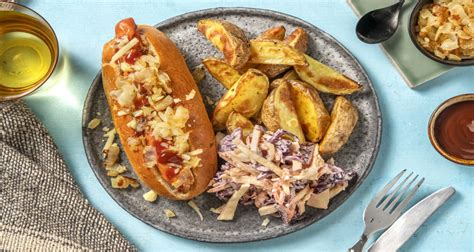 The party down south craziness begins thursday, january 16 at 10/9c, only on cmt! BBQ Glazed Hot Dog With Onion Crumb Recipe   HelloFresh