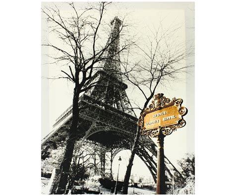 rideau york chambre tableau toile vintage tour eiffel avenue panneau