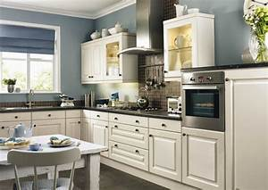 contrasting kitchen wall colors 15 cool color ideas With kitchen colors with white cabinets with la kings wall art