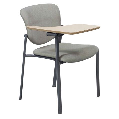 haworth improv used stackable right tablet arm chair gray