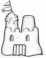 Sandburg Ausmalbild Castle Coloring Sand Kategorien sketch template