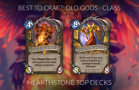 hearthstone legendary crafting guide standard knights