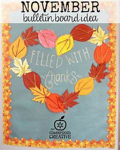 a fun november bulletin board it also includes 3 free With turkey template for bulletin board