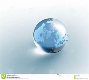 Globe En Verre : la terre en verre transparente de globe image stock image 2901291 ~ Teatrodelosmanantiales.com Idées de Décoration