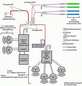 Awesome Of Car Stereo Amp Wiring Diagram 100 Clarion Vrx485vd Gallery In