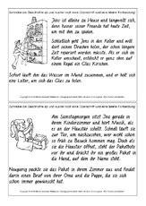 schreibanlaesse deutsch klasse  grundschulmaterialde