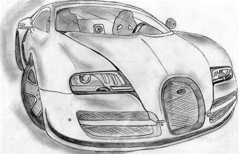 How to draw a bugatti veyron, step by step, drawing guide, by dawn here is an amazing car that lies low to the ground, has a maximum of 1,200 horse powered engine, and is considered to be the most fastest street legal Bugatti Veyron Drawing at PaintingValley.com   Explore collection of Bugatti Veyron Drawing