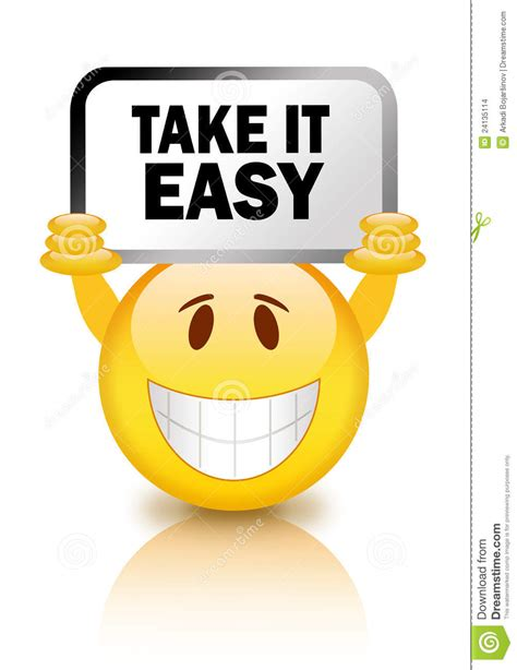 easy and take it easy stock images image 24135114