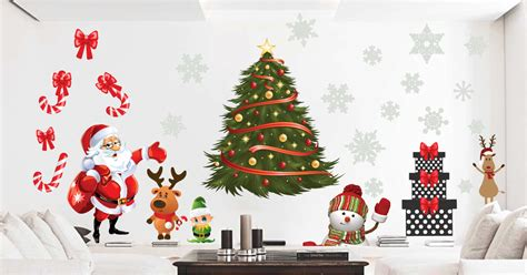 christmas wall decals christms stickers christmas