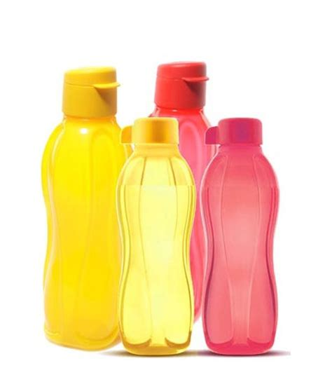 tupperware water bottle 500 ml 2 nos 750 ml 2 nos buy at best price in india snapdeal