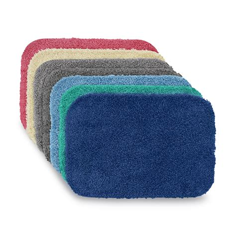 essential home sutton bath rug universal lid or contour