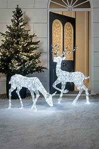Outdoor, Reindeer, Large, Led, Lighted, Rattan, Christmas, Decorations