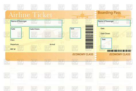 bid on airline tickets template of airline ticket vector illustration of objects